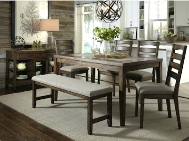 6 Pc Dining Table Set Home Palazzo 6 Piece Dining Set With Bench Throughout Palazzo 3 Piece Dining Table Sets (Photo 17 of 25)