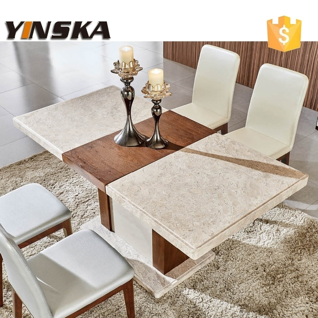 6 Person Marble Table For Long Measure, Natural Stone Dining Table Inside Stone Dining Tables (Photo 24 of 25)