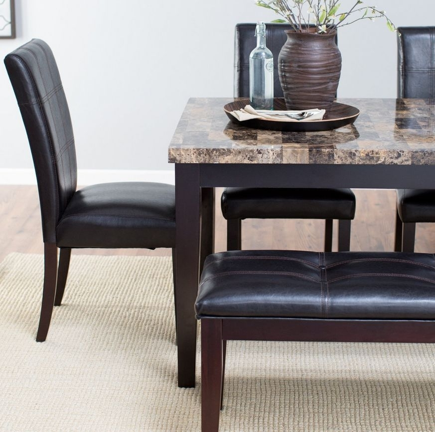 6 Piece Dining Room Set With Bench With Palazzo 6 Piece Rectangle Dining Sets With Joss Side Chairs (View 4 of 25)