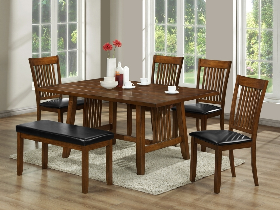 6 Piece Dining Sets | Dining Room Furniture | Interior Express Inside Craftsman 5 Piece Round Dining Sets With Uph Side Chairs (Image 2 of 25)