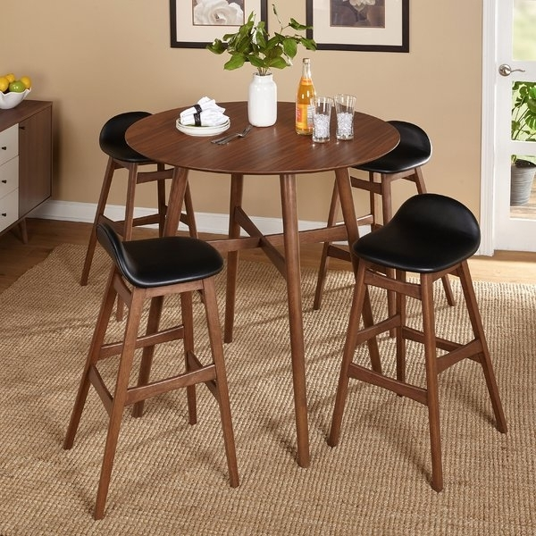 6 Piece Pub Table Set | Wayfair for Jaxon 5 Piece Extension Counter Sets With Wood Stools