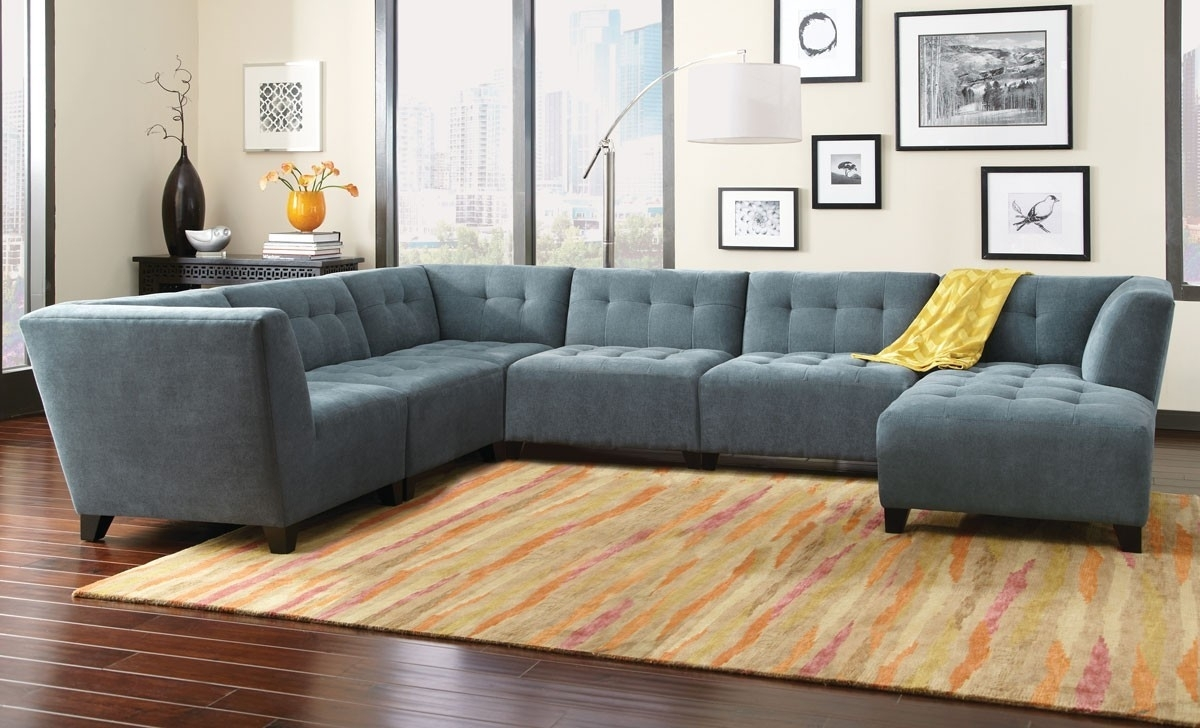 6 Piece Sectional Couch Belaire Sofa Living Room K7813Web for Norfolk Grey 6 Piece Sectionals