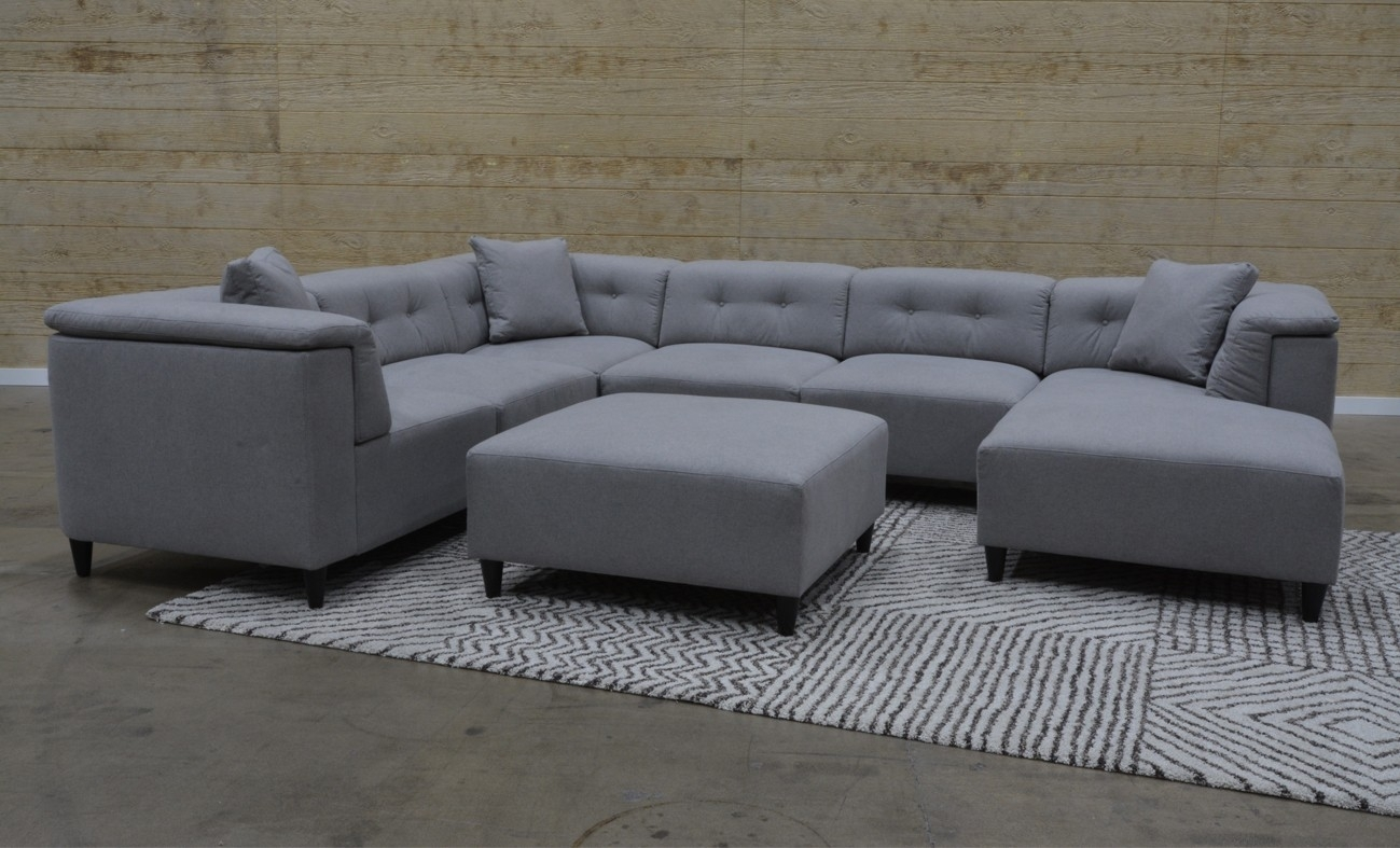 6 Piece Sectional Marcus Grey W Power Headrest Usb Living Spaces Within Marcus Grey 6 Piece Sectionals With  Power Headrest & Usb (Image 6 of 25)
