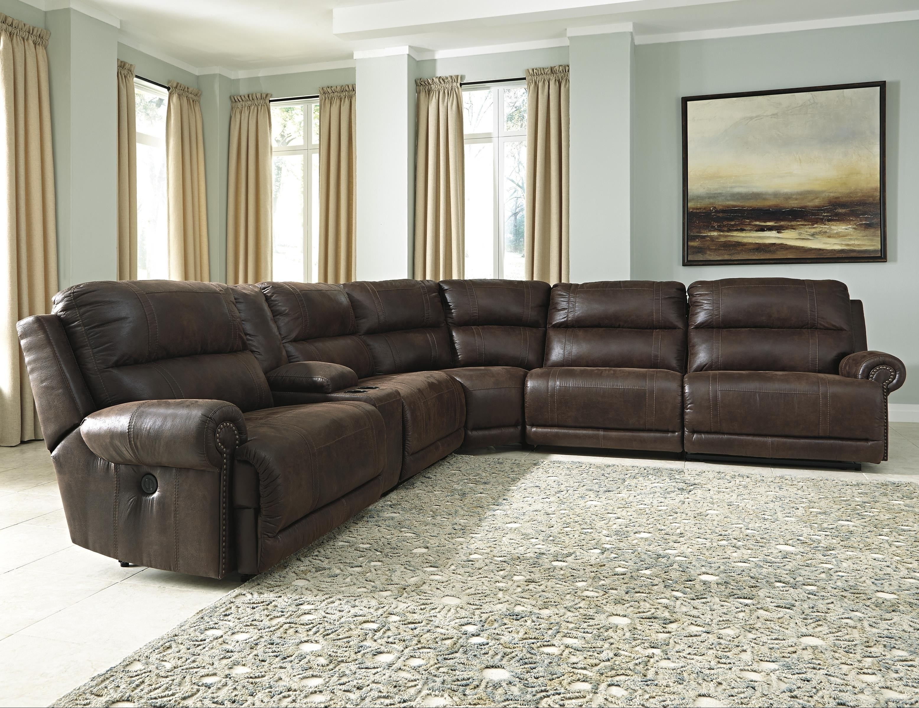 6 Piece Sectional Sofa Marcus Grey W Power Headrest Usb Living With Marcus Grey 6 Piece Sectionals With  Power Headrest & Usb (Image 7 of 25)