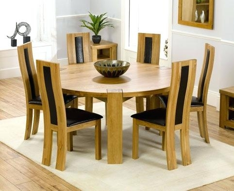 6 Seat Dining Table Cool Round Dining Table For 6 White Glass Chrome Pertaining To 6 Seat Round Dining Tables (View 3 of 25)