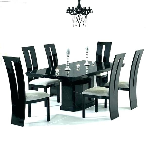 6 Seat Dining Table Cool Round Dining Table For 6 White Glass Chrome With Regard To Dining Tables With 6 Chairs (View 12 of 25)