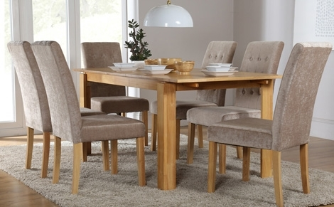 6 Seater Dining Set | Dining Table And Chairs Inside 6 Chairs And Dining Tables (Image 7 of 25)
