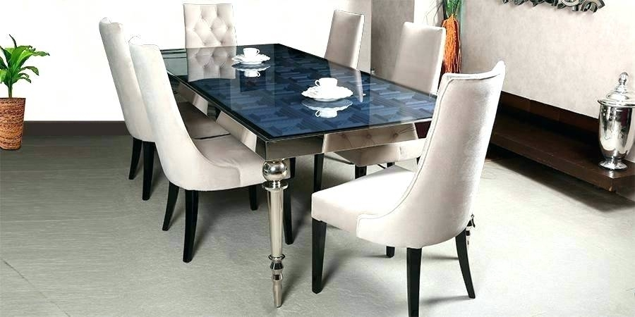 6 Seater Dining Set – Viralviral With Regard To Glass 6 Seater Dining Tables (Image 3 of 25)