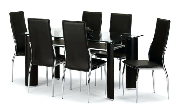 6 Seater Dining Table And Chairs 6 Dining Set 6 Seater Glass Dining Pertaining To Glass 6 Seater Dining Tables (View 11 of 25)