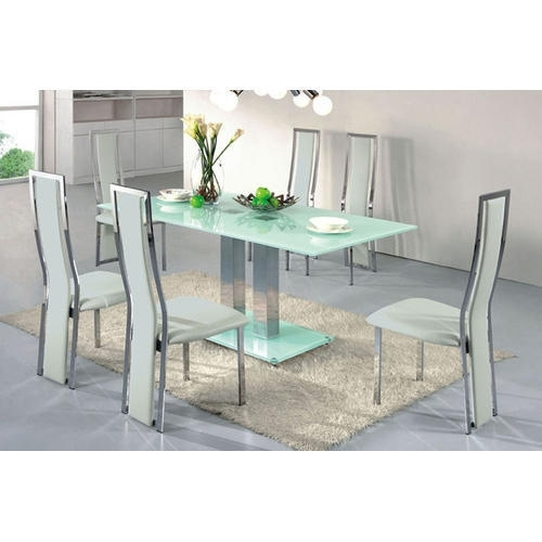 6 Seater Dining Table At Rs 22000 /set | Glass Dining Table | Id within Glass 6 Seater Dining Tables