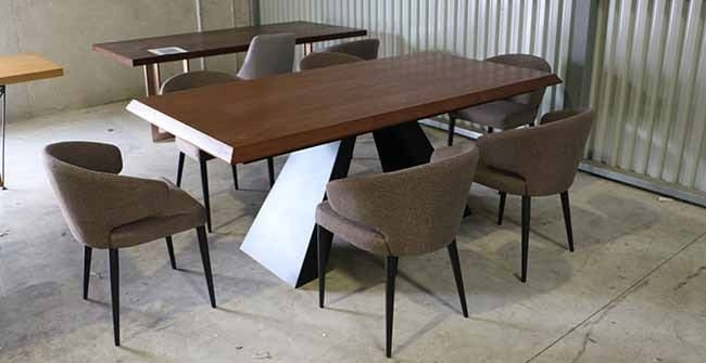 6 Seater Dining Table Caloundra Table + 6 Albion Chairs – Freeway Pertaining To 6 Seat Dining Table Sets (Photo 20 of 25)