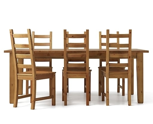6 Seater Dining Table & Chairs | Ikea Within 6 Seat Dining Table Sets (Image 3 of 25)