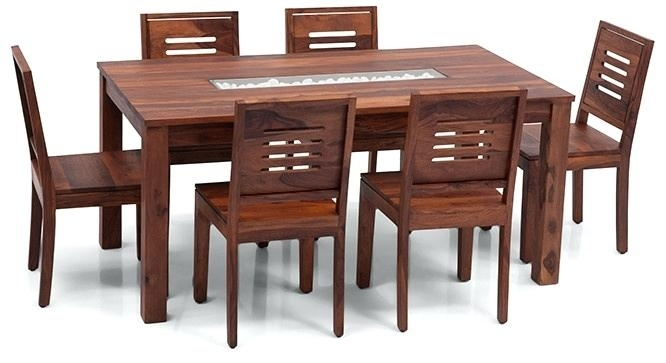 6 Seater Dining Table Teak Finish 1 Height Remarkable Seat Set Price For 6 Seat Dining Tables And Chairs (Image 7 of 25)