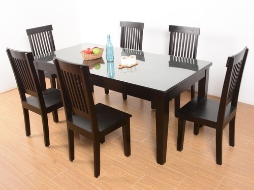 6 Seater Glass Dining Tables At Rs 32000 /set | 6 Seater Dining With 6 Seater Glass Dining Table Sets (Photo 3 of 25)