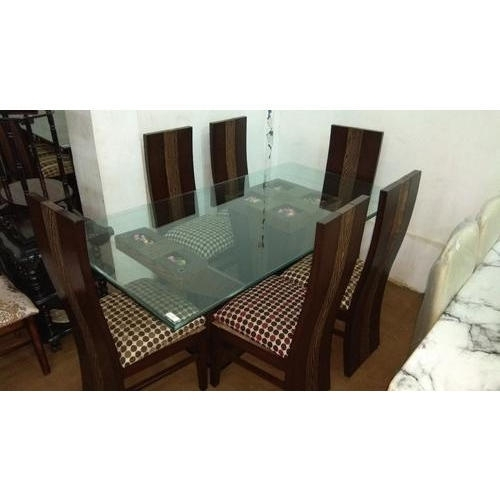 6 Seater Glass Top Dining Table Set At Rs 48000 /set | Glass Dining Pertaining To 6 Seater Glass Dining Table Sets (Image 4 of 25)