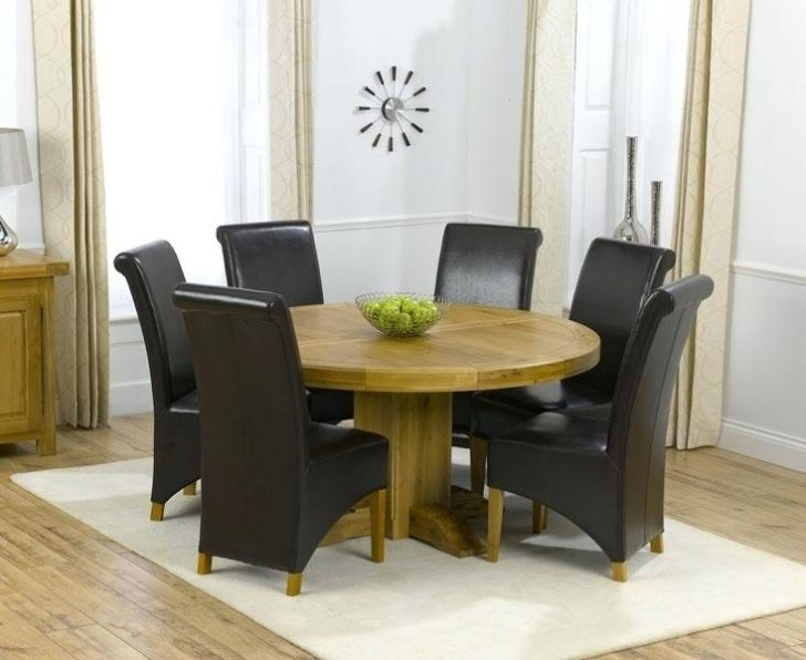 6 Seater Round Dining Table And Chairs Uk Black Glass Interior Intended For 6 Seat Round Dining Tables (View 21 of 25)