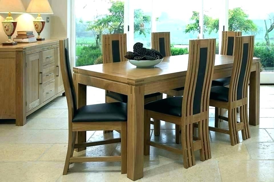 6 Seater Round Dining Table And Chairs Uk Black Glass Interior Within 6 Chair Dining Table Sets (View 12 of 25)