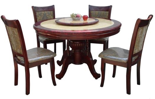 6-Seater Round Dining Table – Lorenz Furniture inside 6 Seater Round Dining Tables