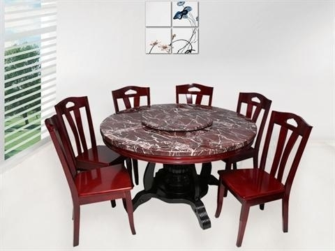 6 Seater Round Dining Table Sets, भोजन कक्ष फर्नीचर Inside 6 Seater Dining Tables (Image 7 of 25)