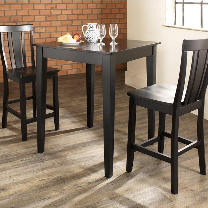6. Small Kitchen Round Dining Table And 2 Chairs Home Design Ideas 2 Pertaining To Dining Tables And Chairs For Two (Photo 5 of 25)