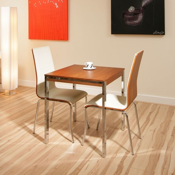 6. Small Kitchen Round Dining Table And 2 Chairs Home Design Ideas Pertaining To Dining Tables And Chairs For Two (Photo 12 of 25)