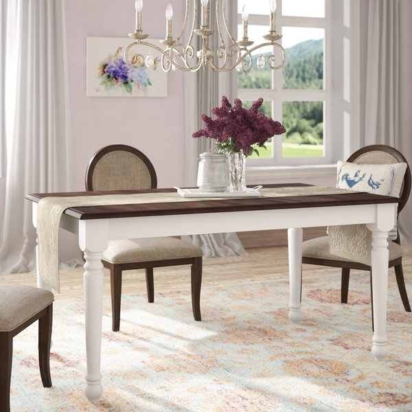 60 Inch Dining Table Set | Wayfair Inside Ina Pewter 60 Inch Counter Tables With Frosted Glass (Image 4 of 25)