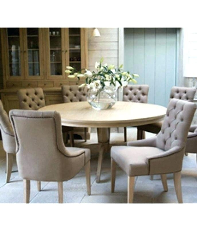 60 Inch Round Dining Table With 6 Chairs Rustic Round Dining Table Pertaining To 6 Chairs And Dining Tables (Photo 23 of 25)
