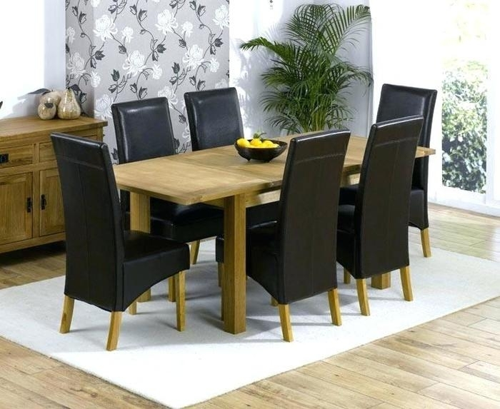 7. 6 Chair Dining Set Table And 6 Chairs Cheap Solid Oak Extending with Oak Extending Dining Tables and Chairs