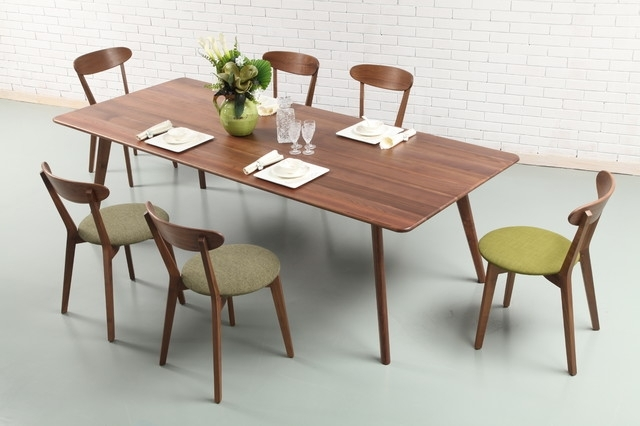 7. Acme United Apollo Contemporary 8Pcs Dining Set Walnut Dining intended for Walnut Dining Tables and Chairs