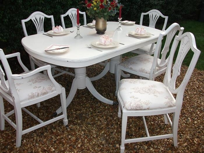 7. Awesome Great Shab Chic Dining Table And Chairs Table Design with regard to Shabby Dining Tables And Chairs