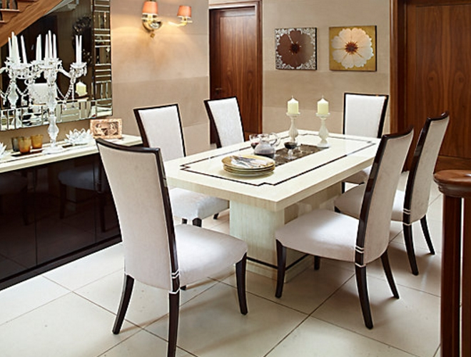 7 Beautiful White Rectangular Table Sets For Everyday Use - Cute within White Dining Tables Sets