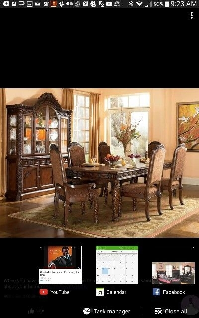 7 Best Dining Room Images On Pinterest | Dining Rooms And Searching For Weaver Dark 7 Piece Dining Sets With Alexa White Side Chairs (Image 3 of 25)