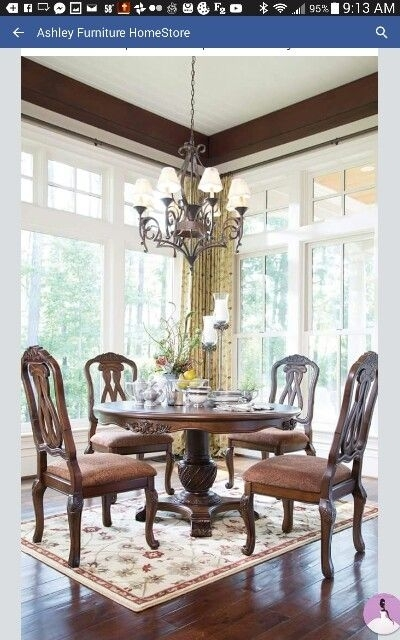 7 Best Dining Room Images On Pinterest | Dining Rooms And Searching Inside Weaver Dark 7 Piece Dining Sets With Alexa White Side Chairs (Image 4 of 25)