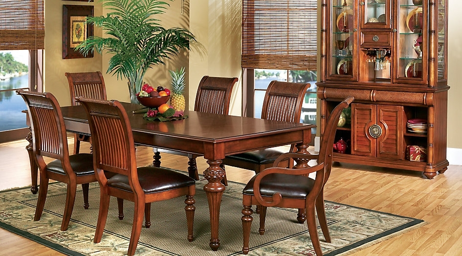 7. Cindy Crawford Home Key West Tobacco 5 Pc Rectangle Dining Room intended for Crawford 6 Piece Rectangle Dining Sets