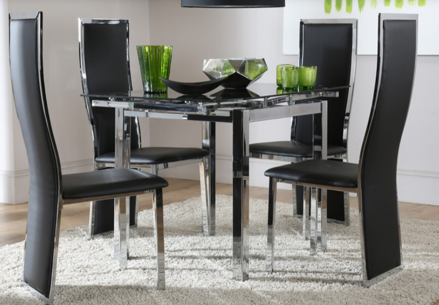 7 Contemporary Glass Square Dining Tables – Cute Furniture Uk Intended For Square Black Glass Dining Tables (Image 2 of 25)