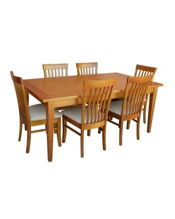 7. Leon 7 Piece Dining Set With Medium Dining Table intended for Leon 7 Piece Dining Sets