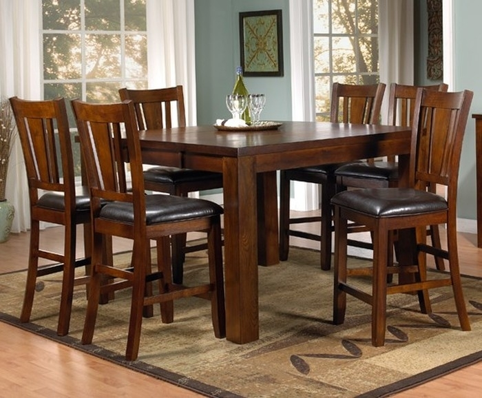 7. Leon 7 Piece Dining Set With Medium Dining Table pertaining to Leon 7 Piece Dining Sets