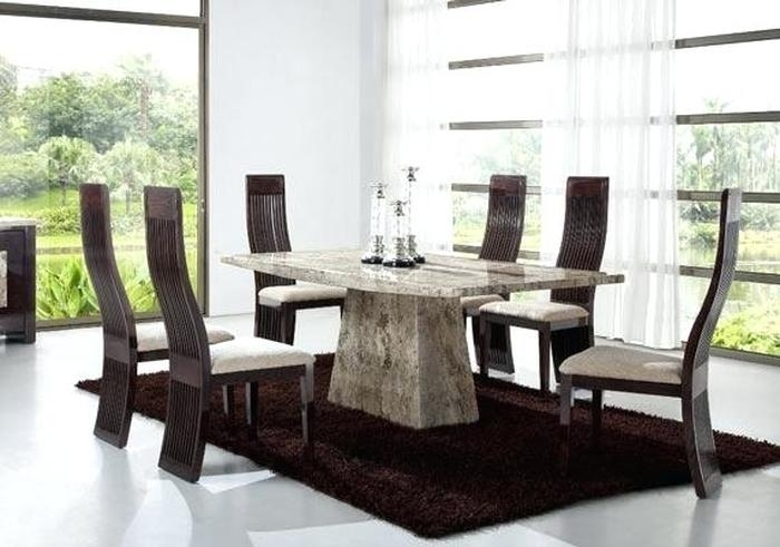 7. Marble Top Dining Room Sets Interior Lindsayandcroft Marble Top throughout Solid Marble Dining Tables