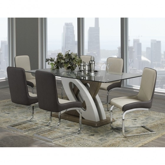 7 Pc Modern Dining Set | F-910 Donatello | Dining Sets inside Modern Dining Sets