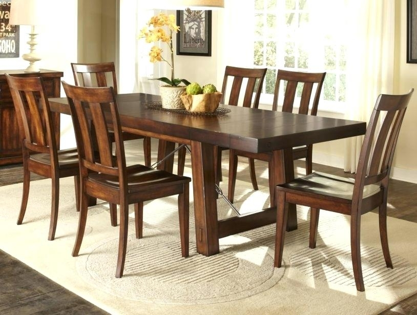 7 Piece Dining Room Set Under Furniture Appealing Appearance Wooden With Parquet 7 Piece Dining Sets (Image 1 of 25)