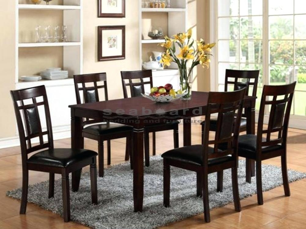 7 Piece Dining Set 7 Piece Dining Room Furniture In Dark Brown With Regard To Partridge 7 Piece Dining Sets (Image 2 of 25)
