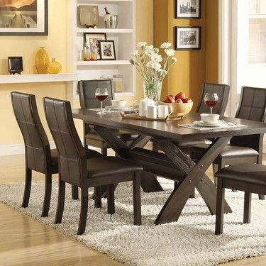 7 Piece Dining Set, Bayside Furnishings Xenia $700 At Costco Within Jaxon 7 Piece Rectangle Dining Sets With Upholstered Chairs (Image 5 of 25)
