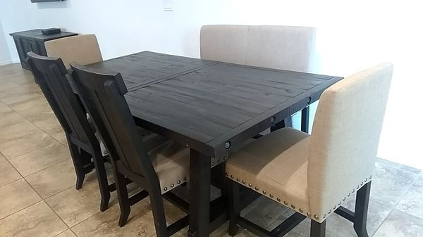 7 Piece Dining Set (Table) For Sale In Buckeye, Az - Offerup within Jaxon Grey 7 Piece Rectangle Extension Dining Sets With Wood Chairs