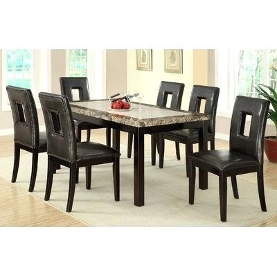 7 Piece Dining Table Sets Furniture Dining Room Tables Set Inside Palazzo Rectangle Dining Tables (View 16 of 25)