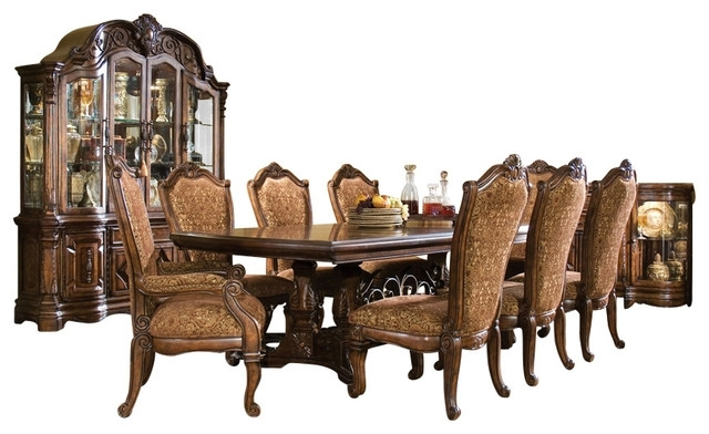 7-Piece Windsor Court Rectangular Dining Table Set, Vintage in Rectangular Dining Tables Sets