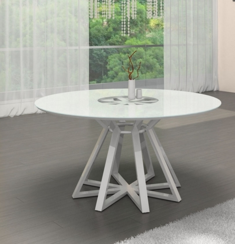 7 White Round Modern Dining Tables - Cute Furniture throughout White Circle Dining Tables