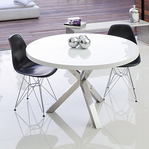 7 White Round Modern Dining Tables – Cute Furniture With Round White Dining Tables (View 6 of 25)