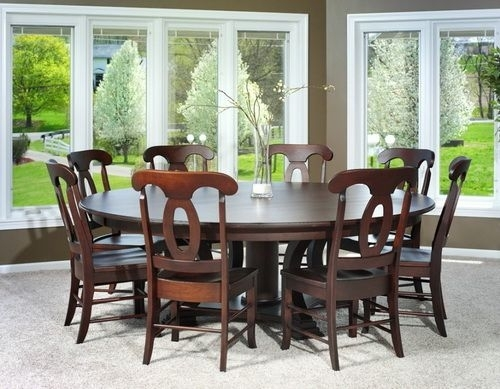 72 Inch Round Dining Table For 8 | Round Dining Table | Pinterest within Dining Tables For 8