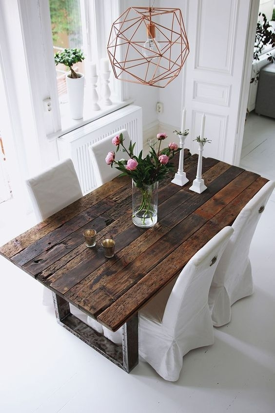 75 Modern Rustic Ideas And Designs | House | Pinterest | Dining throughout Rustic Dining Tables