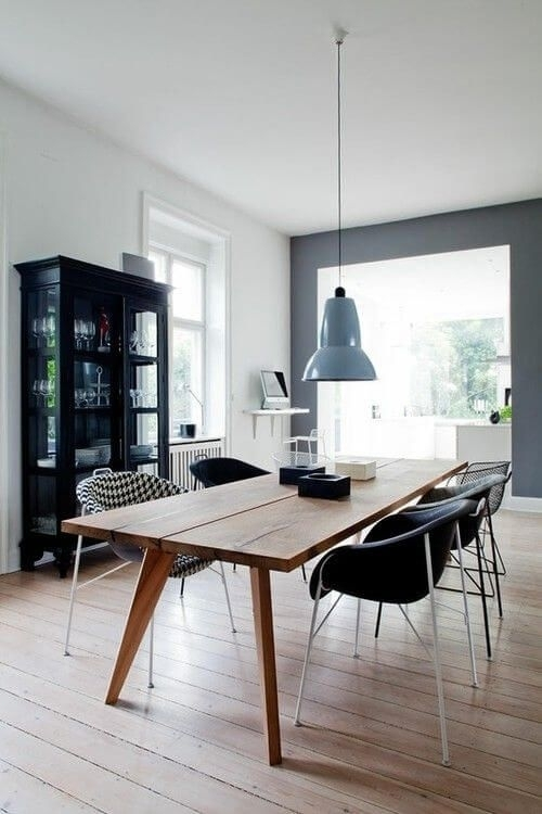 77 Gorgeous Examples Of Scandinavian Interior Design | Minimalist Regarding Scandinavian Dining Tables And Chairs (Image 6 of 25)